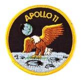 Distintivo del vestito di spazio di missione dell'Apollo 11 Fotografie Stock Libere da Diritti