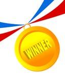 Distintivo del vincitore   Fotografia Stock