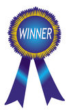 Distintivo del vincitore Fotografie Stock Libere da Diritti