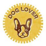Distintivo dell'amante dei cani Immagine Stock
