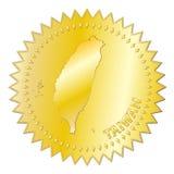 Distintivo dell'approvazione dell'oro di Taiwan Fotografia Stock Libera da Diritti