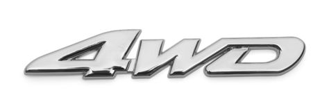 Distintivo dell'automobile di 4WD Chrome fotografie stock