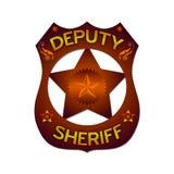 Distintivo dell'estratto del delegato sceriffo Fotografia Stock Libera da Diritti