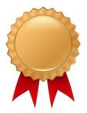 Distintivo dell'oro Fotografie Stock Libere da Diritti