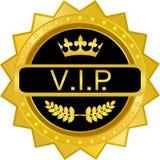 Distintivo dell'oro di VIP Immagini Stock Libere da Diritti