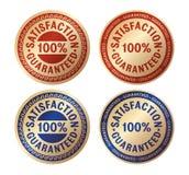 Distintivo dell'oro garantito soddisfazione Fotografie Stock Libere da Diritti
