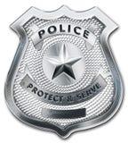 Distintivo dell'ufficiale di polizia Fotografie Stock