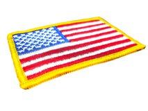 Distintivo della bandiera americana Fotografie Stock Libere da Diritti