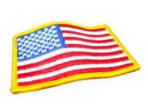 Distintivo della bandiera americana Immagine Stock