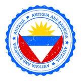 Distintivo della bandiera dell'Antigua illustrazione di stock