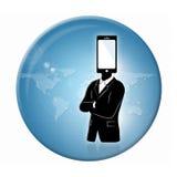 Distintivo della comunicazione globale Fotografie Stock