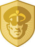 Distintivo della protezione di obbligazione Fotografia Stock Libera da Diritti