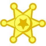 Distintivo della stella del cowboy Fotografie Stock Libere da Diritti