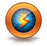 Distintivo delle icone del fulmine per il gioco Ui Immagine Stock Libera da Diritti