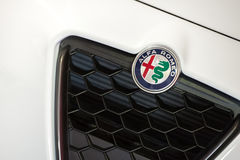 Distintivo di Alfa Romeo Fotografie Stock