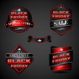 Distintivo di Black Friday Fotografia Stock