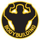 Distintivo di Bodybuilding Immagine Stock Libera da Diritti