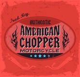 Distintivo di Chopper Motorcycle dell'americano Fotografia Stock Libera da Diritti