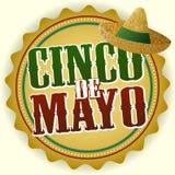 Distintivo di Cinco De Mayo illustrazione di stock
