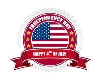 Distintivo di festa dell'indipendenza Fotografia Stock Libera da Diritti