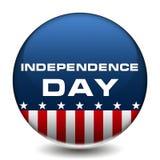 Distintivo di festa dell'indipendenza Immagini Stock Libere da Diritti