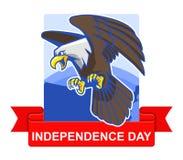 Distintivo di festa dell'indipendenza illustrazione di stock