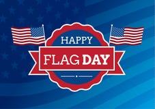 Distintivo di giorno della bandiera Fotografia Stock