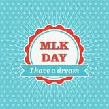 Distintivo di giorno di MLK Immagine Stock