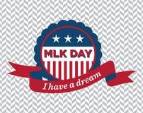 Distintivo di giorno di MLK Fotografie Stock Libere da Diritti