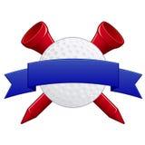 Distintivo di golf Fotografia Stock Libera da Diritti