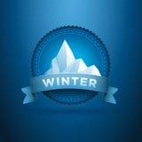 Distintivo di inverno Fotografie Stock Libere da Diritti