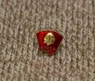 Distintivo di Komsomol del Soviet Fotografia Stock
