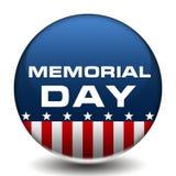 Distintivo di Memorial Day dell'americano Fotografia Stock