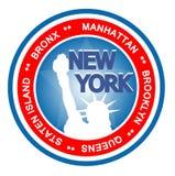 Distintivo di New York Fotografie Stock
