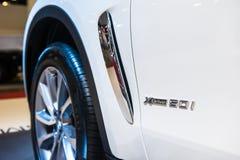 Distintivo di nuovo BMW X6 Singapore Motorshow 2015 Immagine Stock