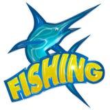 Distintivo di pesca Fotografia Stock Libera da Diritti