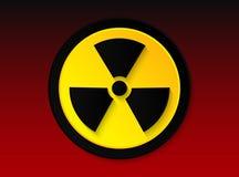 Distintivo di radiazione fotografie stock