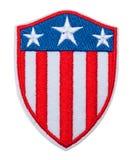 Distintivo di Shiled della bandiera di U.S.A. fotografia stock libera da diritti