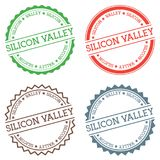 Distintivo di Silicon Valley isolato su fondo bianco Fotografia Stock Libera da Diritti