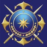 Distintivo di stile del BLU MARINO Fotografia Stock