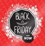 Distintivo di vendite di Black Friday Immagine Stock