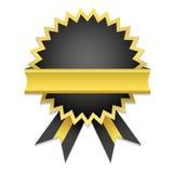 Distintivo dorato Fotografie Stock Libere da Diritti