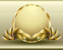 Distintivo dorato Fotografie Stock