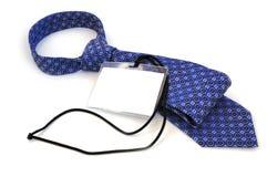 Distintivo e cravatta Fotografia Stock Libera da Diritti