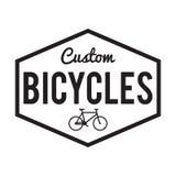 Distintivo/etichetta delle biciclette Bici su ordinazione Immagine Stock