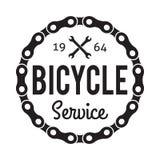 Distintivo/etichetta di servizio della bicicletta Fotografia Stock