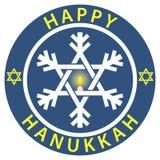 Distintivo felice di Hanukkah illustrazione vettoriale