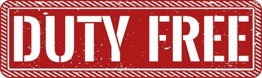 Distintivo grungy rosso esente da dazio dell'icona del timbro di gomma di web Immagini Stock