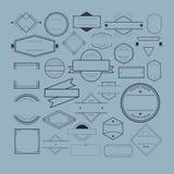 Distintivo Logo Collection Concept di simbolo dell'icona Fotografia Stock