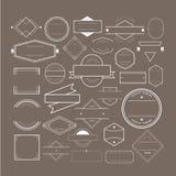 Distintivo Logo Collection Concept di simbolo dell'icona Immagini Stock